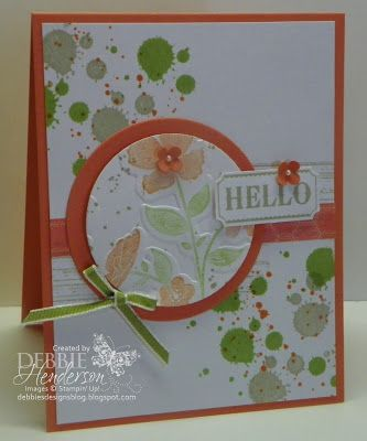 Background is SU Gorgeous Grunge Stamp set, with Wildflower Meadow background stamp and the Wildflower Meadow Embossing Folder.