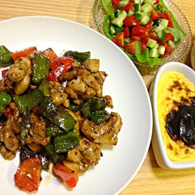 トルコ料理マスター開始ー! - 2件のもぐもぐ - チキンケバブ、スープ、サラダ、ライスプディング by pianokitty