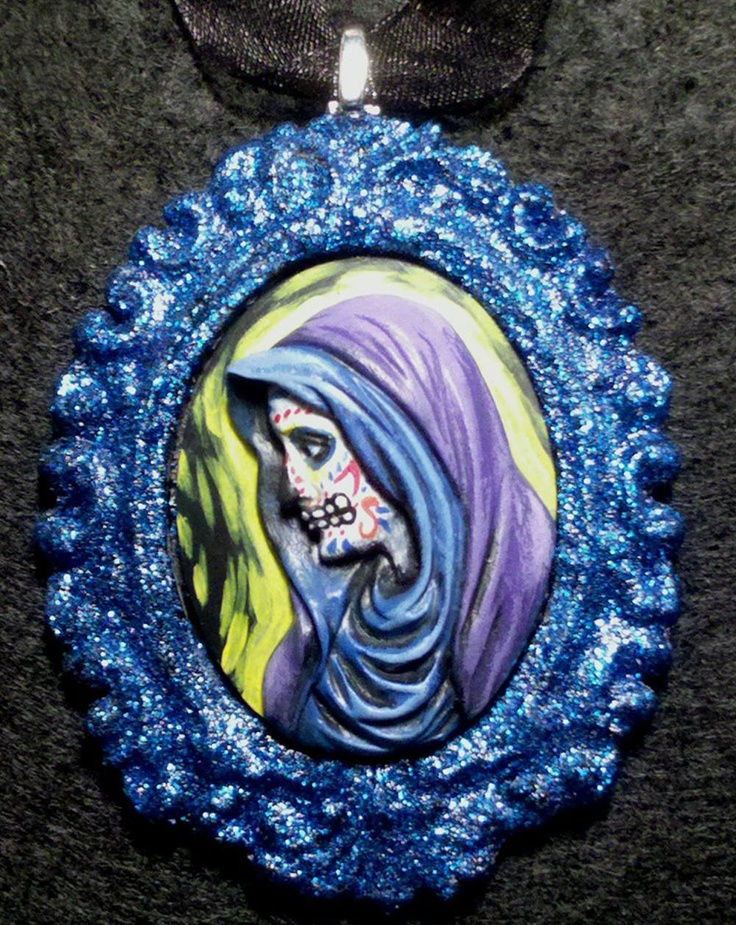 MY LITTLE ZOMBIE - DAY OF THE DEAD LADY GUADALUPE NECKLACE