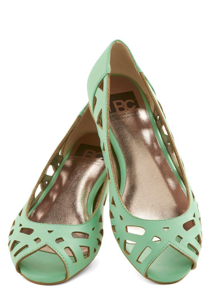 BC Footwear Discover Your Pastel Flat in Mint | Mod Retro Vintage Flats | ModCloth.com   MINT!!