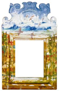 Espejo intervenido por el artista Raúl Herrera