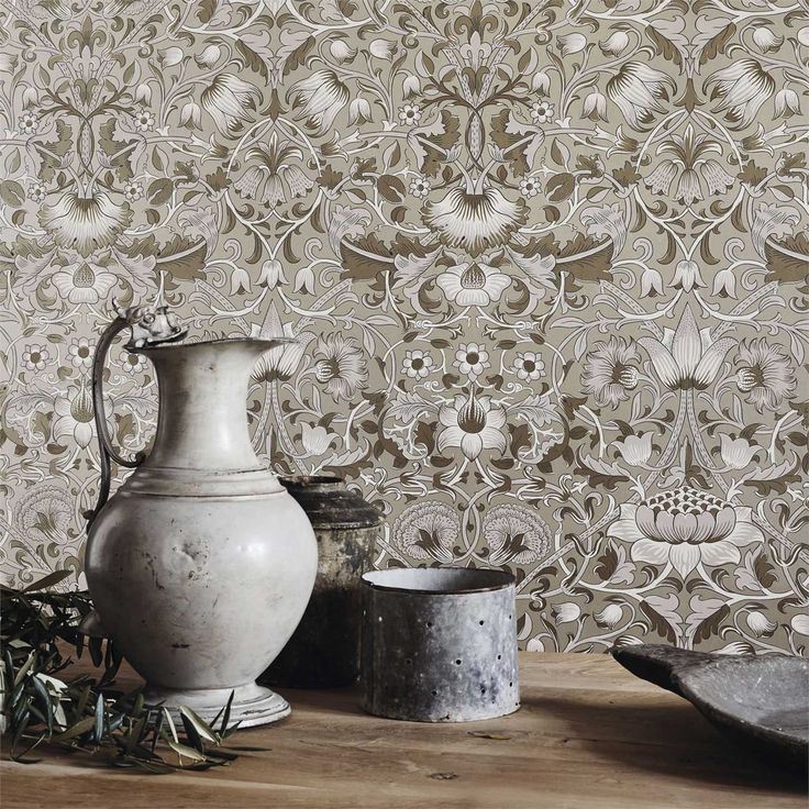 The Original Morris & Co - Arts and crafts, fabrics and wallpaper designs by William Morris & Company   Products   British/UK Fabrics and Wallpapers   Pure Lodden (DMPU216030)   Pure Wallpapers