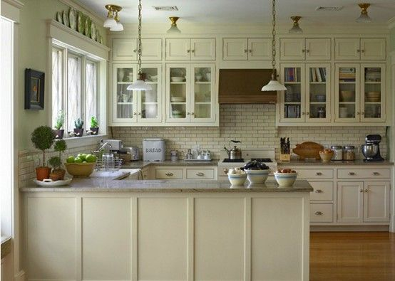 U shaped kitchen for open floor plan cabinets on one wall for G kitchen layout