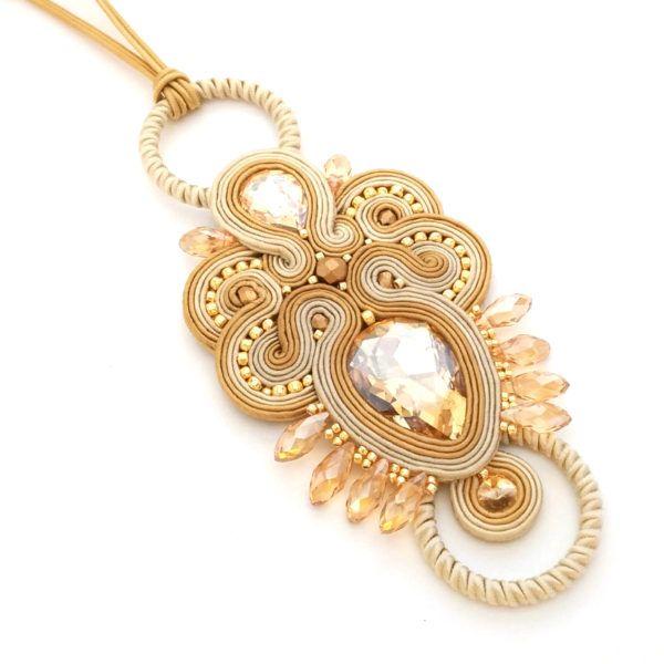 Soutache necklace - Soutache pendant - Statement necklace - Handmade necklace   SABO Design