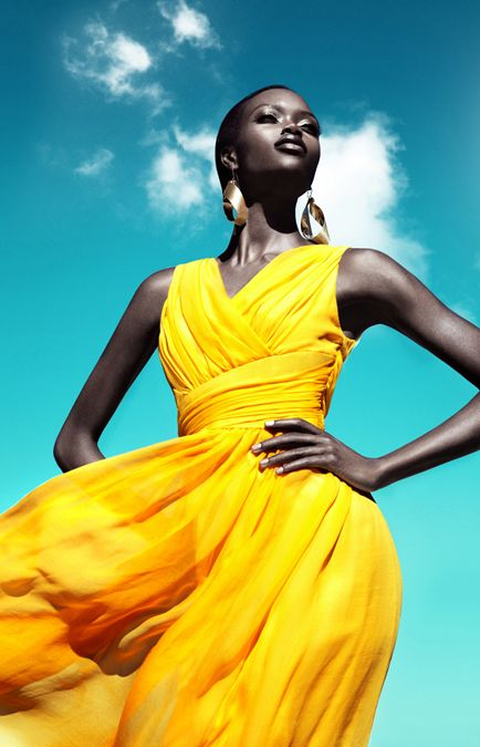 _-Simone-by-Franziska-Nette Black models, yellow dress. Brown Beauty, Fashion, Couture, Black Beauty, #BrownBeauty, Style, African-American, Glamour, Glam, High Fashion, Couture, Beauty, Natural Hair, Team Natural