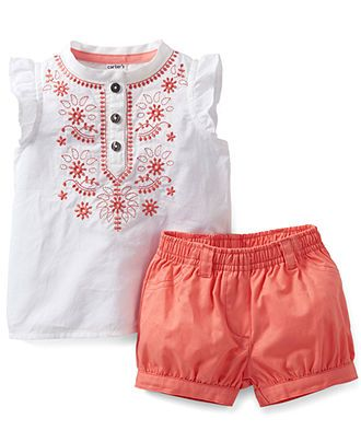 Carter's Baby Girls' 2-Piece Top & Shorts Set - Kids Carter's - Macy's