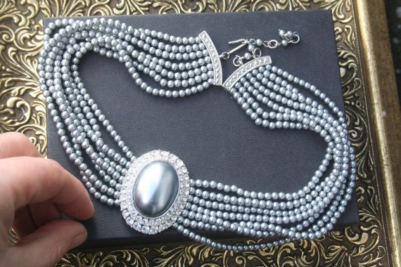 Pearl necklace multi strand pearl necklace Vintage pearl