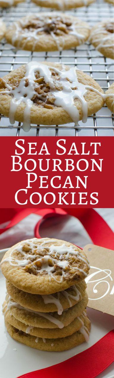 Sea Salt Bourbon Pecan Cookies | Garlic & Zest