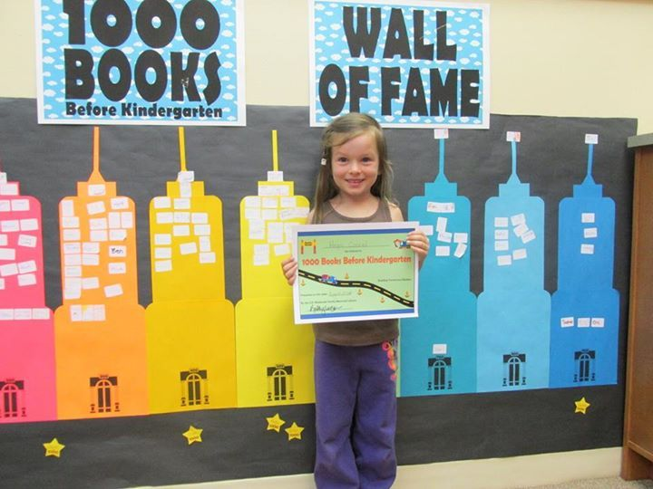 Congratulations to Hope for completing our 1000 Books Before Kindergarten challenge!!