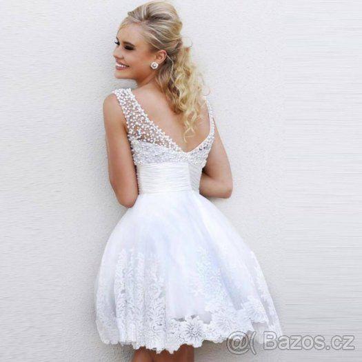 Krátké svatební šaty - 1