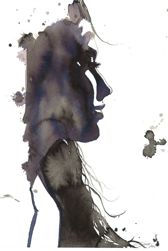 Every Distance is not Near, print from original watercolor fashion illustration by Jessica Durrant