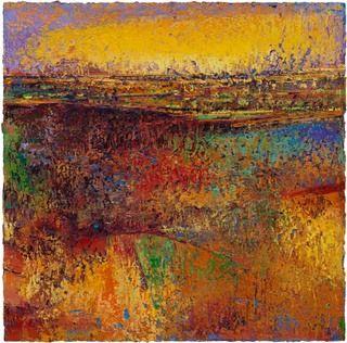 Michael Freudenberg Provence 6, Öl auf Holz, 85 x 85 cm, 1989/2003