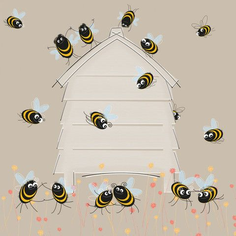 Bee-Hive-Jive £3.00 greeting card from Sophie Morrell