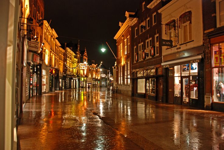 Den Bosch, Holland; yes, it was a rainy night when we were there as well.