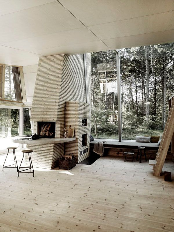 <3. all of it.Big Windows, Fireplaces, Modern Cabin, Interiors Design, Living Room, Painting Studio, Rustic Modern, Design Home, Modern Interiors