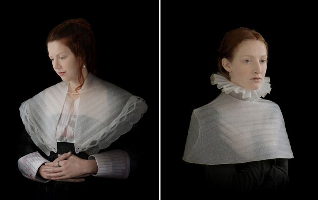 Photographer Suzanne Jongmans' higher calling involves transforming discarded packing foam and recycled insulation materials into dramatic costumes inspired by 16th and 17th century Flemish and Dutch paintings.