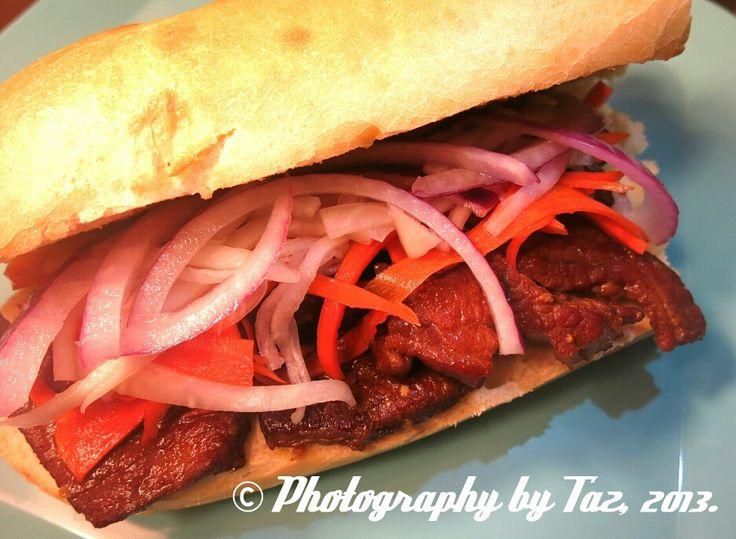 Caramel Pork Bánh Mì. | Foods we like | Pinterest