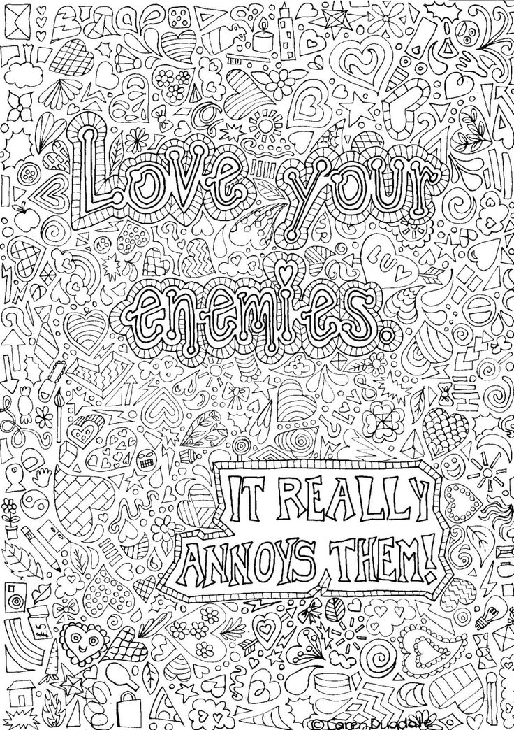 love your enemies colouring page by CarensColouring on Etsy