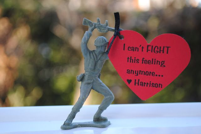"""CUTE For Valentine's Day...all is fair in Love and War...""""Love is a Battlefield""""  """"You Dropped the Bomb on Me""""  """"I can't fight this feeling anymore"""" or   """"I would catch a Grenade for you""""."""