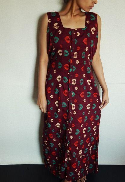 Floralen Sommer-Kleid Maxikleid mit indische Kleid von IndianParadise auf DaWanda.com