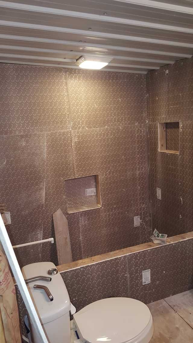 Just Finished The Custom Shower Bathtub In My Apartment All Made Out Of Tile Bathtub Remodel Dream Bathrooms Concrete Bathtub