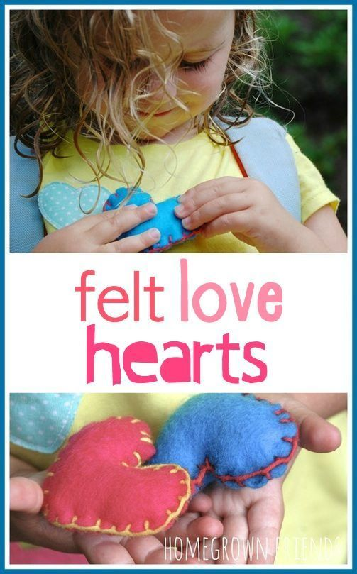 Felt Love Hearts inspired by the Kissing Hand