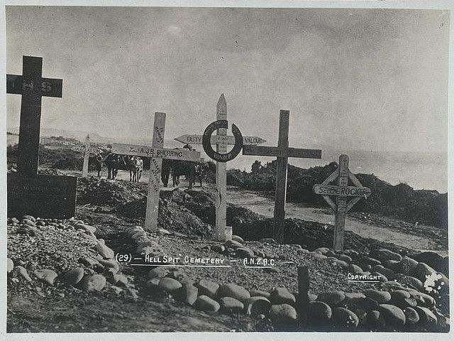 'With the camera at Anzac' – Hell Spit cemetery – Anzac