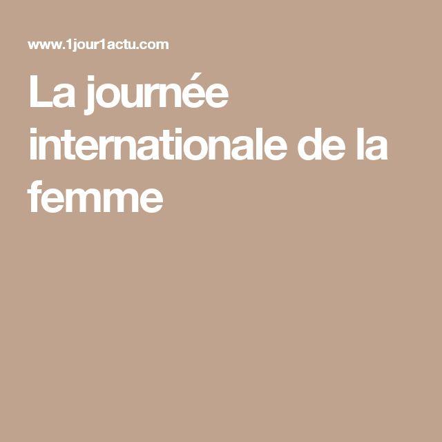 La journée internationale de la femme