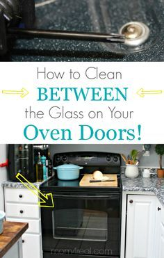 A step-by-step tutorial showing how to clean that area in between the glass on your oven doors. via @Mom4Real