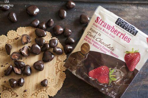 Сушеная клубника в шоколаде Stoneridge Orchards, Strawberries, Dipped in Dark Chocolate
