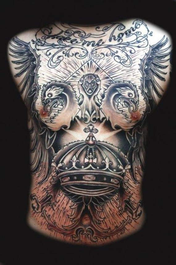 44 Best Images About Chest And Stomach Tattoos