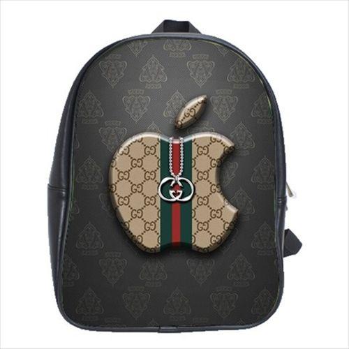82c48cba4267 Brand Gucci Logo  2873 School Bag Shoulder Leather Backpack in 2019 ...