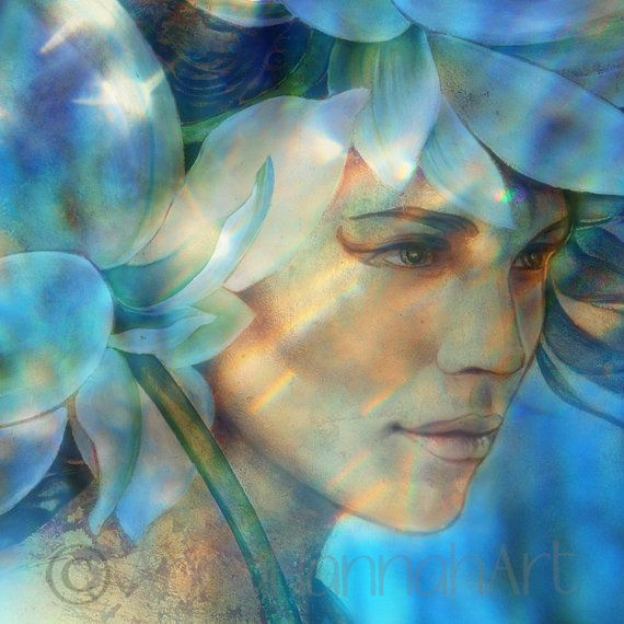 """""""Queen of the Lotus Land"""" from the series """"CrystalArt"""""""