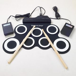 Professional 7 Pad Digital Portable Collapsible Silicone Musical Roll-up Electronic Drum Pad K Set with Stick (32758264484)  SEE MORE  #SuperDeals