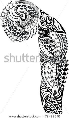 Tribal Arm Chest Tattoo