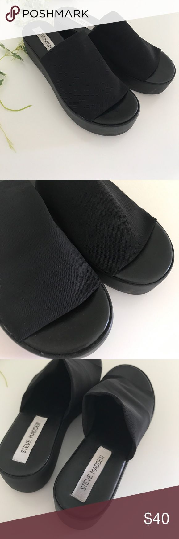 🔥 Steve Madden Platform Sandals 🔥 🔆 in excellent condition super clean inside and out 🔆tops and inside are in perfect condition  🔆bottoms have little dirt 🚫no trades Steve Madden Shoes Sandals