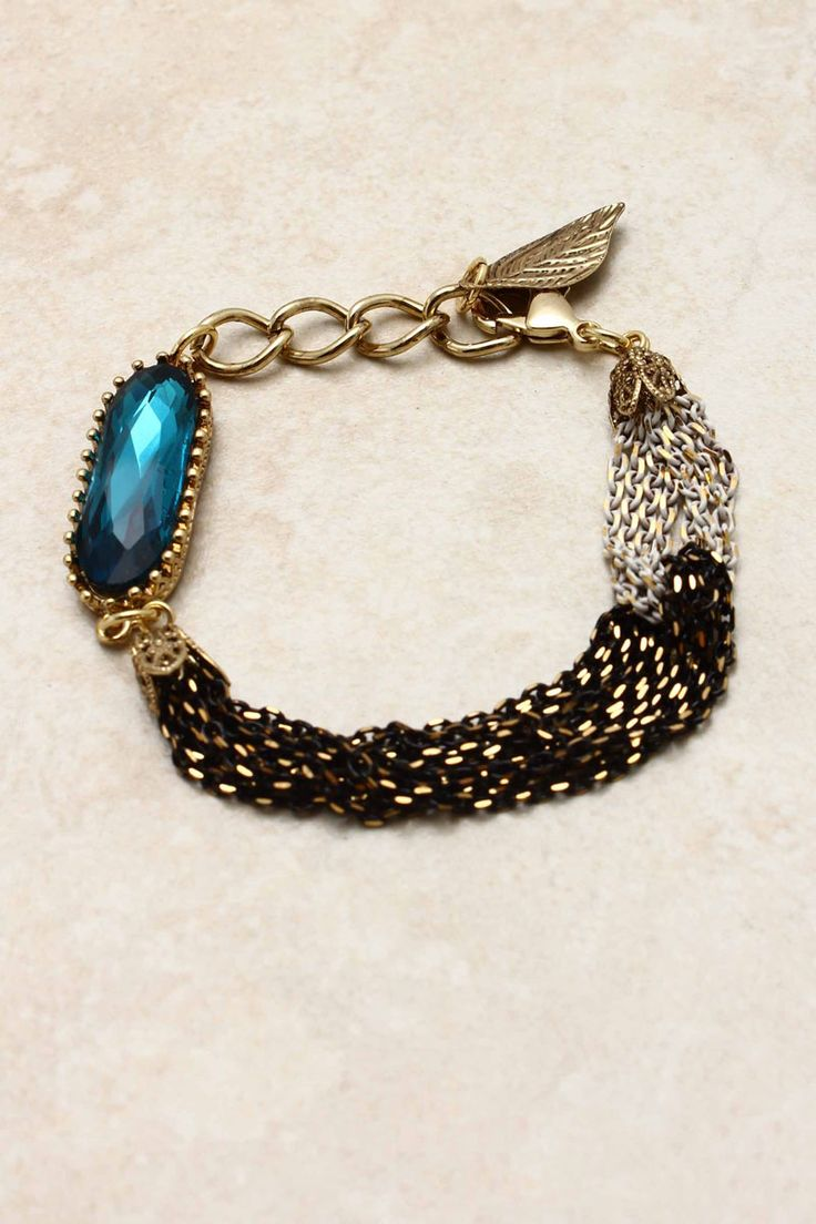 Sapphire Crystal Amara Bracelet on Emma Stine Limited