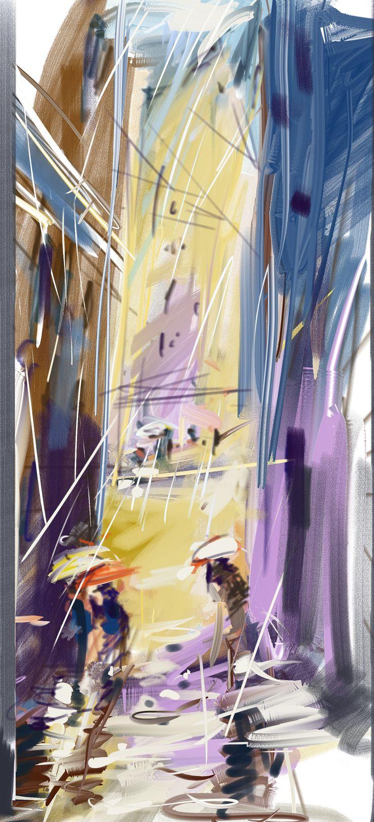 Corel painter - V dešti