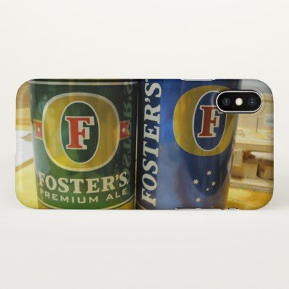 Fosters Beer iPhone X Case  $27.85  by Christa_Turnbull  - cyo customize personalize diy idea
