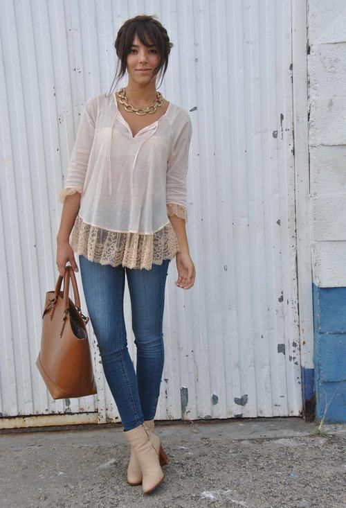 Neutrals with denim