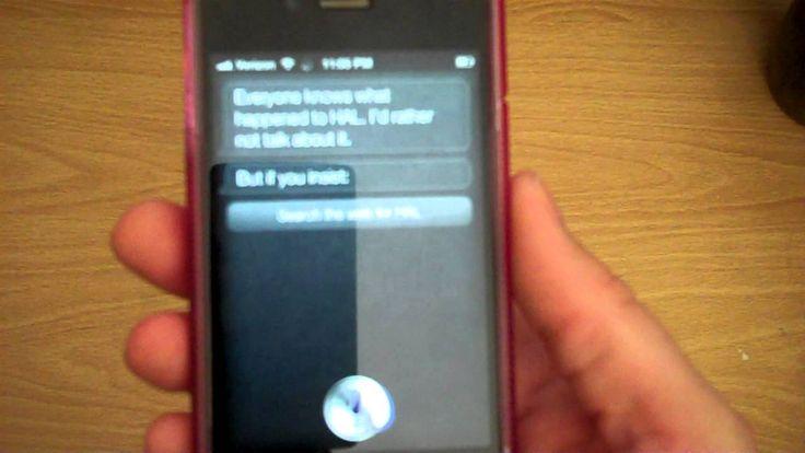Siri Talks about HAL on Apple iPhone 4S FUNNY