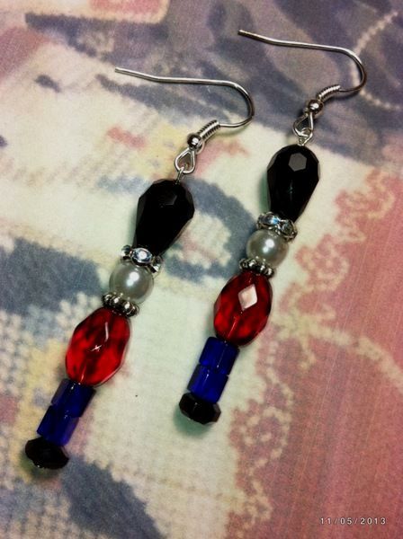 1aa057c25 beaded hoop earrings   Beaded Earrings   Christmas Jewelry ...