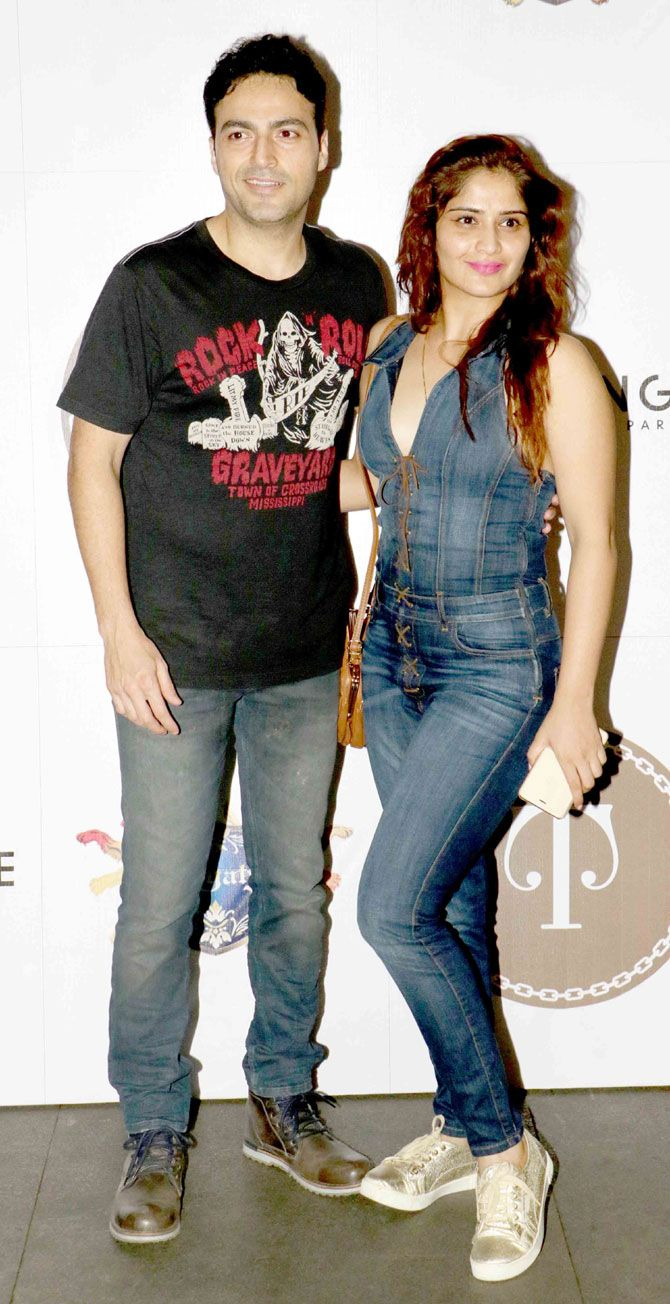 Ayaz Khan and Aarti Singh at a bash in Mumbai. #Bollywood #Fashion #Style #Beauty