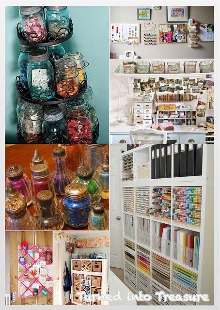 Turned into Treasure: Home Inspiration: Craft Storage