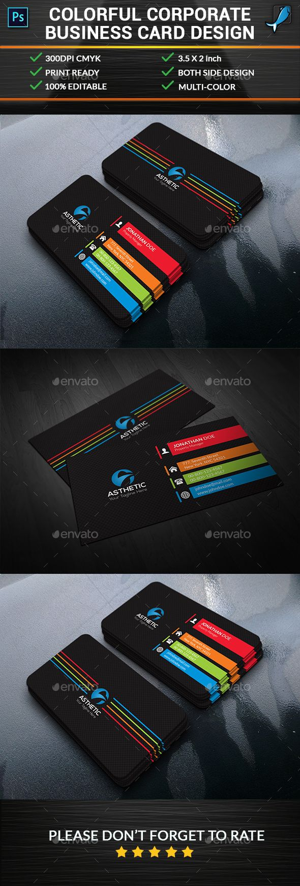 Colorful Corporate Business Card