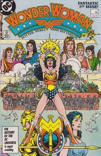 Wonder Woman is a DC Comics superheroine created by William Moulton Marston. She first appeared in All Star Comics #8 (December 1941). The Wonder Woman title has been published by DC Comics almost continuously except for a brief hiatus in 1986.