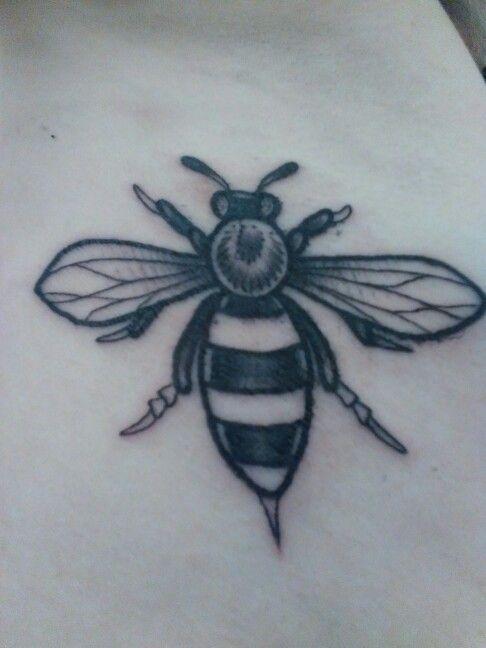 Manchester bee tattoo tattoos pinterest bee tattoo for Bee tattoo manchester