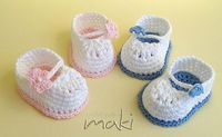 Looking for your next project? You're going to love FREE crochet pattern Mini booties by designer MakiCrochet.
