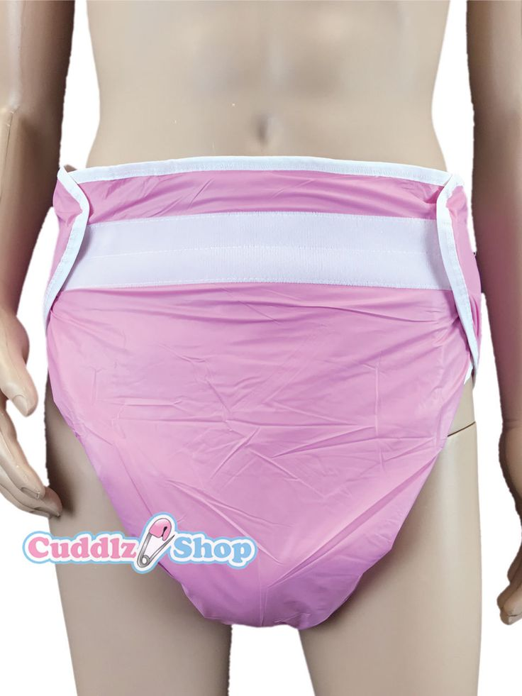 Pink All In One Adult Velcro Fastening Padded Nappy In