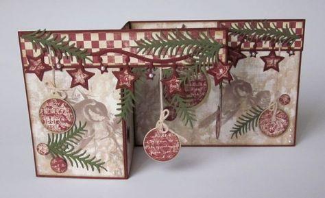 … für Weihnachtskarten. Mit dem schönen Papier von Riddersholmdesign hat es mir riesigen Spaß gemacht, die Karten zu werkeln. Für diese Kar...